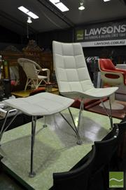 Sale 8550 - Lot 1168 - Lounge Chair with Ottoman