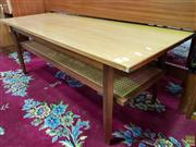 Sale 8566 - Lot 1168 - Coffee table with Rattan Shelf (120)