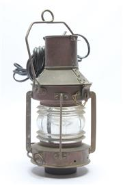 Sale 8673 - Lot 62 - Central Mast Light, wired