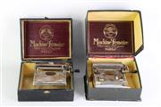 Sale 8860 - Lot 60 - Two Lemaire (Paris) cigarette rolling machines, possibly c1910, with original boxes