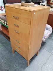 Sale 8872 - Lot 1064 - Remploy Teak Six Drawer Tallboy