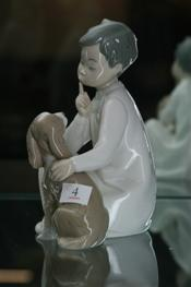 Sale 7877 - Lot 4 - Lladro Figure Group Boy with Dog