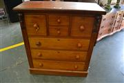 Sale 8050B - Lot 30 - Late 19th Century Cedar Chest of Seven Drawers
