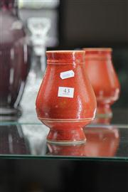 Sale 8160 - Lot 43 - Chinese Red Glaze Vase