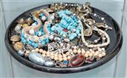 Sale 8470H - Lot 353 - A quantity of good quality costume jewellery, Christian Dior and turquoise