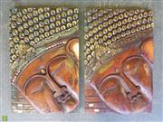 Sale 8601 - Lot 1058 - Pair of Timber Buddha Plaques