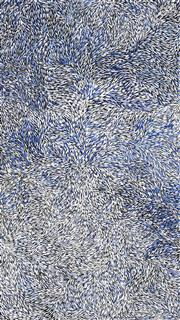Sale 8647 - Lot 552 - Jeannie Petyarre (1956 - ) - Bush Yam Leaves 197 x 110cm