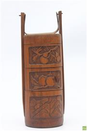 Sale 8694 - Lot 55 - Bamboo Childrens Lunchbox