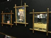 Sale 8643 - Lot 1157 - Set of 3 Simulated Bamboo Mirror