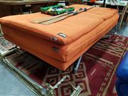 Sale 8680 - Lot 1075 - Orange Fabric Electric Lounge