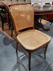 Sale 8740 - Lot 1038 - Set of Four Thorne Style Chairs with Rattan Back & Seat