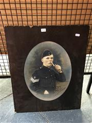 Sale 8853 - Lot 2036 - A Hand Coloured Photograph of a Soldier, signed