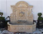 Sale 8972H - Lot 74 - Magnificent hand carved stone wall fountain  2.15m Wide 2.02m Height 1.1m Deep. Due to the physical size of this item, pick-...