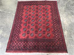 Sale 9112 - Lot 1072 - Hand knotted pure wool Persian Turkoman in red tones (200 x 150cm)