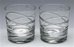 Sale 9164 - Lot 232 - A pair of cased Royal Doulton cut crystal tumblers (H:10cm)