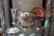 Sale 7953 - Lot 93 - Silver Plated Revolving Tureen and other Plated Wares incl Salver, Cutlery, etc