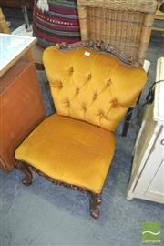 Sale 8257 - Lot 1100 - Button Back Upholstered Bedroom Chair