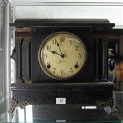 Sale 8306 - Lot 47 - Sessions Timber Mantle Clock
