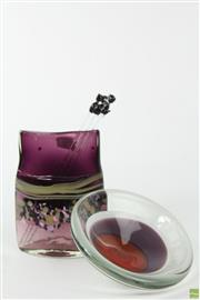 Sale 8586 - Lot 257 - Weisbach Art Glass Bowl (Dia:13cm) And Signed Vase (H:14cm)