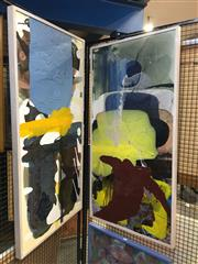 Sale 8730 - Lot 2045 - Pair of Contempory Abstract Paintings, 125 x 64cm (frame) -