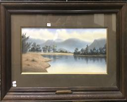 Sale 9106 - Lot 2098 - Hyde Perrott (c1880 - 1935) Lachlan River, NSE pastel on paper 50 x 87cm (frame) signed