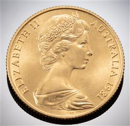 Sale 9153C - Lot 311 - AUSTRALIAN TWO HUNDRED DOLLAR GOLD COIN; 1981 Charles Diana Wedding; 22ct gold wt. 10.01g.