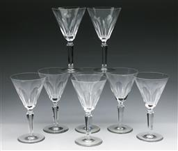 Sale 9175 - Lot 98 - A Set of Eight Waterford Crystal Wine Glasses (H:16.5cm)