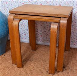 Sale 9191W - Lot 707 - A graduating pair of bentwood sidetables (Height 43cm)