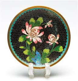 Sale 9253 - Lot 124 - A flower themed Chinese cloisonne dish (Dia:10.5cm)