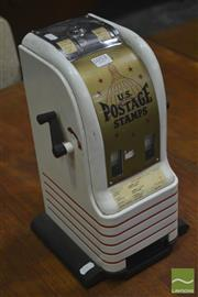 Sale 8260 - Lot 1053 - U.S. Postage Stamp Machine (key in office)