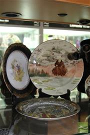 Sale 8256 - Lot 88 - Meissen Cabinet Plate with Two Royal Doulton Plates