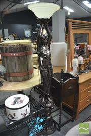 Sale 8299 - Lot 1096 - Lady Form Figural Floor Lamp