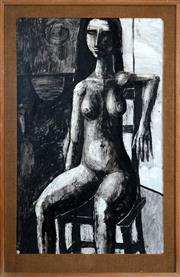 Sale 8467 - Lot 562 - Martin Sharp (1942 - 2013) - Nude, 1962 100.5 x 62.5cm