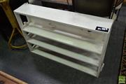 Sale 8500 - Lot 1296 - White Painted Timber Open Bookshelf with Sailing Boats to Back