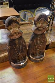 Sale 8500 - Lot 1246 - Two Tribal Timber Figures