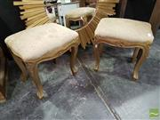 Sale 8532 - Lot 1004 - Pair of French Style Gilt Foot Stools