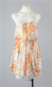 Sale 8685F - Lot 51 - A Zimmermann abstract floral silk sundress, size 1