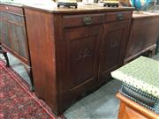 Sale 8782 - Lot 1314 - Timber Sideboard with Two Drawers & Doors