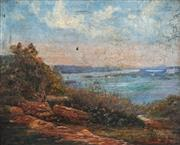 Sale 8838 - Lot 584 - Colonial School (C19th) - Vaucluse from Bellevue Hill 42 x 52cm