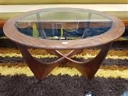 Sale 8930 - Lot 1029 - Circular Atmos Coffee Table with a Glass Top
