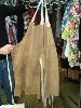 Sale 7490 - Lot 89 - 3 BROWN SUEDE APRONS (LONG) + 1 BLACK VINYL LONG