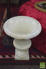 Sale 8326 - Lot 1485 - Pair of White Cast Iron Urns