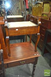 Sale 8331 - Lot 1328 - Timber Lift Top Stool On Cabriole Legs