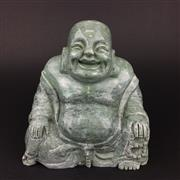 Sale 8567 - Lot 704 - Green Stone Carved Buddha