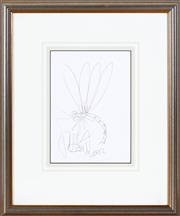 Sale 8562A - Lot 93 - Kevin Charles Pro Hart - Dragonfly, 2002 28 x 20cm