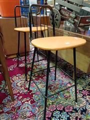 Sale 8566 - Lot 1153 - Pair of Vintage Barstools