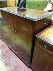 Sale 8657 - Lot 1023 - Inlayed Entertainment cabinet