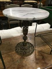 Sale 8740 - Lot 1553 - Marble Top Wine Table