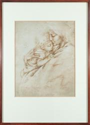 Sale 8838H - Lot 98 - George Hatsatouris b. 1947 - Mother and Child, 1977 signed and dated lower right