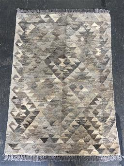Sale 9112 - Lot 1036 - Hand knotted pure wool Persian kilim (125 x 85cm)